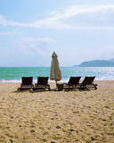 City beach. Vietnam. City beach against the blue sky and the sea Royalty Free Stock Photo