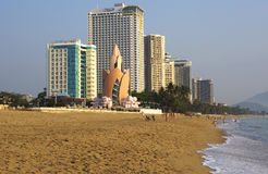 City beach. Vietnam. Nha Trang. Stock Photography