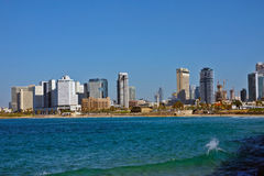 City beach view In Tel Aviv Stock Photos
