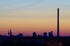 City Before Sunrise Royalty Free Stock Photos
