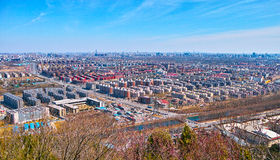 The city from Beijing Baiwangshan Peak Royalty Free Stock Images
