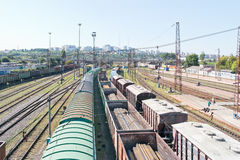 City Belgorod. Freight trains Stock Photo