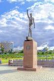 City Belgorod. Sculpture of Svetlana Khorkina Stock Image