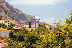 City and belltower. Funchal, Madeira, Portugal Royalty Free Stock Photography