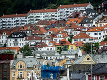 City of Bergen, Norway. A picture of typical Flats and buildings in norway Stock Photography