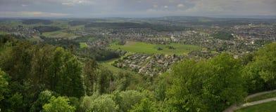 City of Bern from Gurten hill Gurten berg Stock Photo