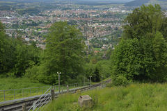 City of Bern from Gurten hill. Royalty Free Stock Photography