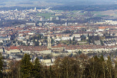 City of Bern seen in the distance Royalty Free Stock Images