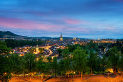 City of Bern skyline with a dramatic sky in Bern, Switzerland Royalty Free Stock Image