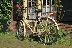 City bicycle stock image