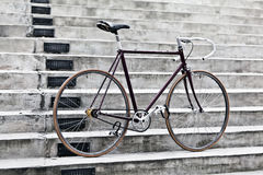 City bicycle and concrete stairs, vintage style Stock Photo