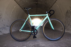 City bicycle fixed gear and concrete wall Royalty Free Stock Photos
