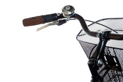 City bicycle handlebar with ring bell Stock Photography