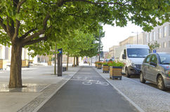 City bicycle lane Stock Photos