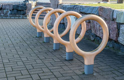 City bicycle parking Stock Photo