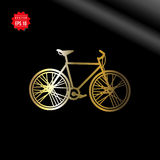 City bicycle vector icon on black background Royalty Free Stock Photo
