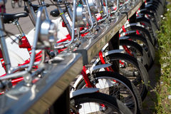 City bicycles Royalty Free Stock Image
