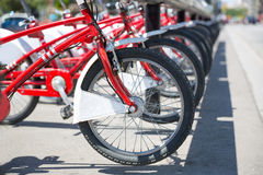 City bicycles Stock Images