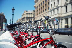City bicycles Royalty Free Stock Photos