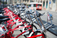 City bicycles Stock Photo