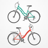 City bicycles Royalty Free Stock Photography