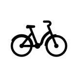 City Bike Icon. Black city bike icon isolated on white Stock Image
