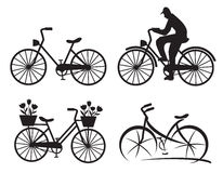 City bike icons Stock Images