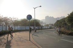 City bike lane at tseung kwan O, hong kong Stock Photo