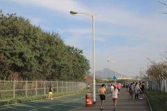 City bike lane at tseung kwan O, hong kong Royalty Free Stock Photo