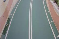 City bike lane at tseung kwan O, hong kong Stock Photos