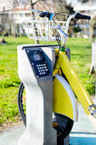 City bike for rent in Istanbul, Turkey Stock Photo