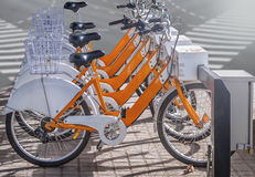 City bike for rent Stock Photography
