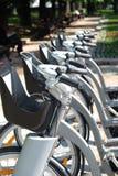 City bike rental outdoors Stock Photos
