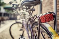 City bike on street. Picture was made in Amsterdam Royalty Free Stock Image