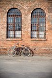 City bike under a wall Stock Photography
