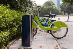 City bike, Zhuhai China Royalty Free Stock Photos