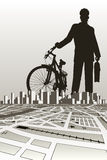 City biker Stock Photography
