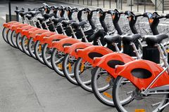 City bikes for rent Stock Photo