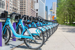 City bikes rent parking in NYC Stock Photography