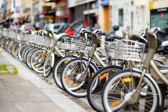 City bikes for rent Royalty Free Stock Images