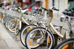 City bikes for rent Stock Images