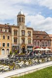 City bikes sharing station in Brasov, Romania Stock Images