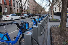 City Bikes  to be rented Stock Photos