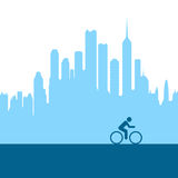 City biking. Riding a bike in the city Stock Photography