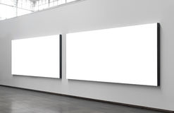 City billboards. Two blank billboards situated at a generic city location that could be anywhere in the world Royalty Free Stock Photography