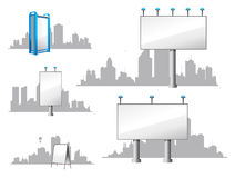 City Billboards and Skylines Royalty Free Stock Image