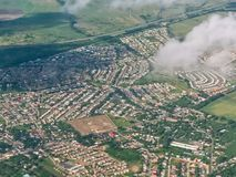 City Bird`s eye view of Portmore, St. Catherine. View from the air in Portmore, Jamaica Stock Images