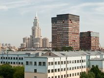 City birdfly view. Moscow. Stock Images