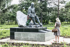 The City Of Birsk. A monument to soldiers who fell in hot spots. Stock Image