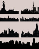 City black silhouettes Royalty Free Stock Images